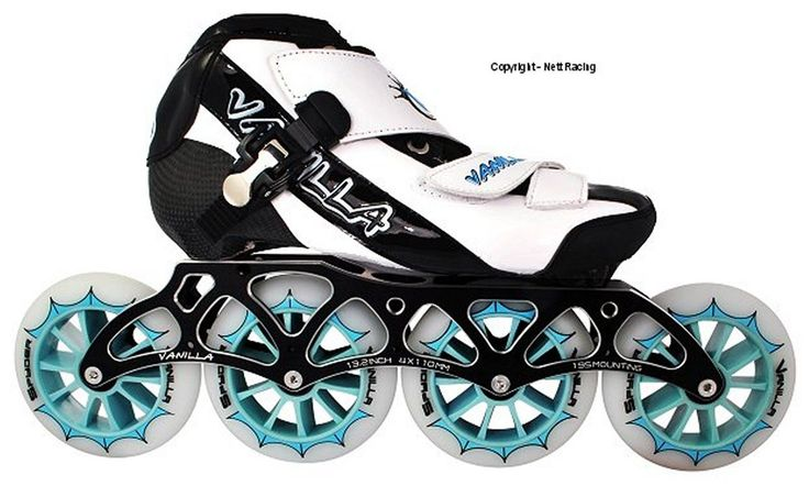 Men 47346: Vanilla Spyder Black And White Inline Speed Skates -> BUY IT NOW ONLY: $395 on eBay!