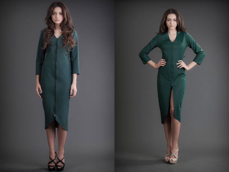 2 in 1 Dress - Silk & Jersey Green