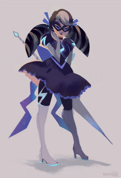 Stormy Weather (Miraculous Ladybug) warm up drawing of my favorite villain in the show (with a bit of added frills in her outfit.) Art by abbydraws on tumblr
