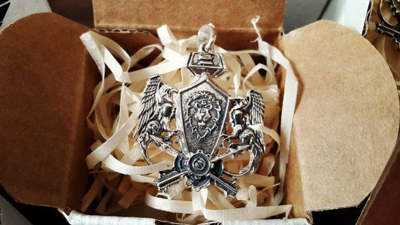 Warcraft Alliance Pendant World of Warcraft WoW  : Sterling Silver Handmade Necklace, Novelty Fashion Wear Jewelry