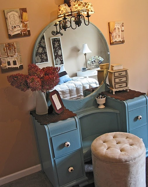 My daughter's blue vanity.