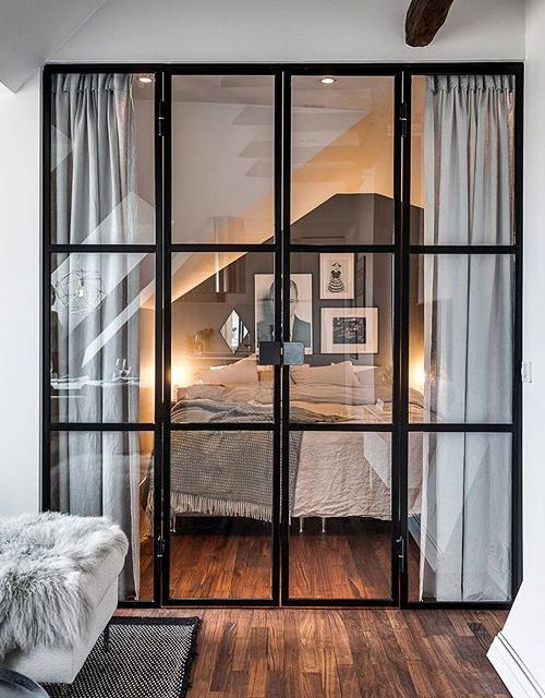 wwwfashioncluenet fashion tumblr a city apt with black framed window room - Loft Einrichten Beispiele