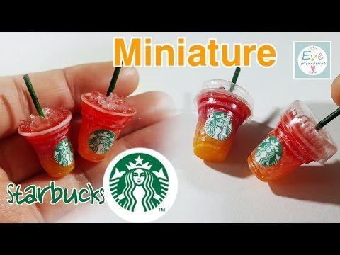 how to: miniature Starbucks drinks