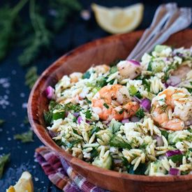 Orzo and Roasted Shrimp Salad [FoolProofLiving]