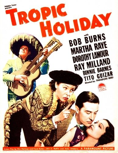 Tropic Holiday Us Poster Art From Left: Bob Burns Martha Raye Ray Milland Dorothy Lamour 1938 Movie Poster Masterprint (24 x 36)