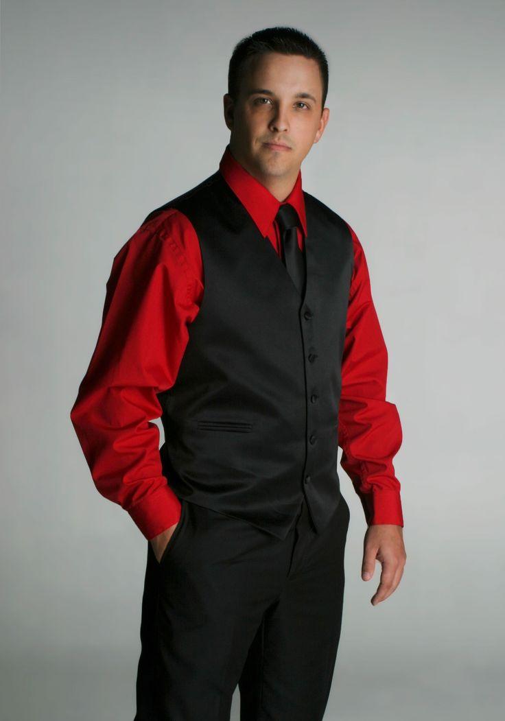 Vest Suit Black Vest Set Tie No Jacket Interesting Men