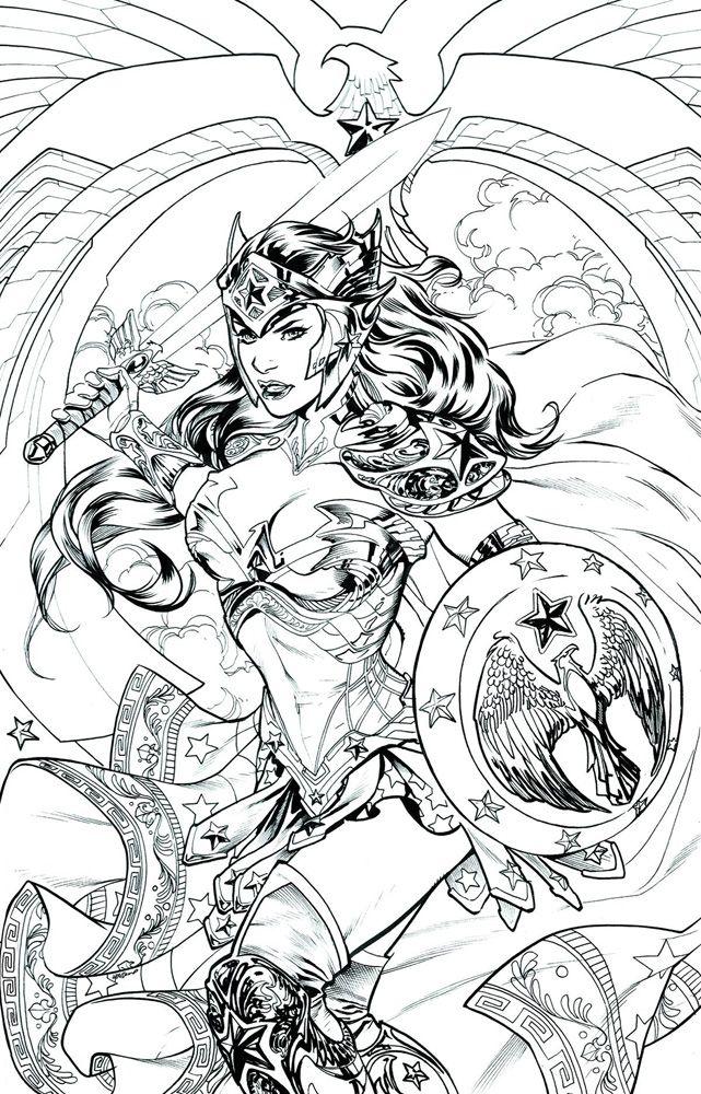Image: Wonder Woman #48 (DCU variant - Adult Coloring Book cover) - DC Comics
