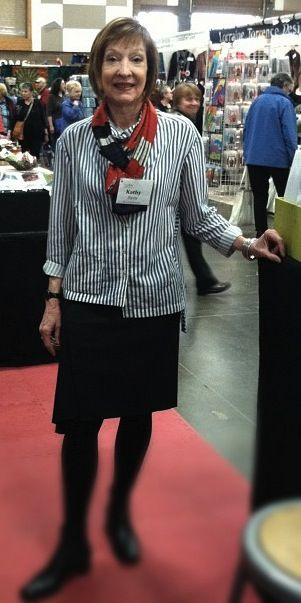 Kathy in the new Sewing Workshop Icon shirt