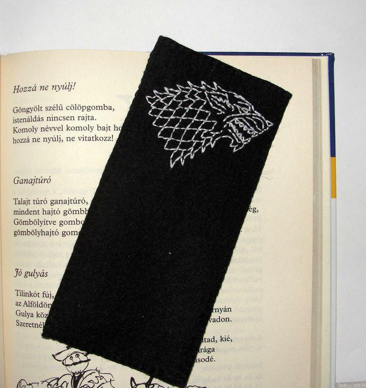 Wool Felt Wolf Bookmark, Game of Thrones, Handmade Gifts, Animal Bookmark