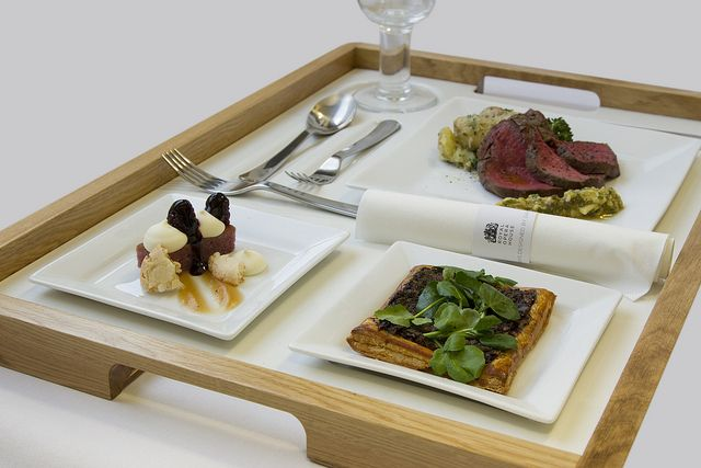 Supper Trays designed by David Mellor Design, served by Royal Opera House Restaurants © ROH Restaurants 2014