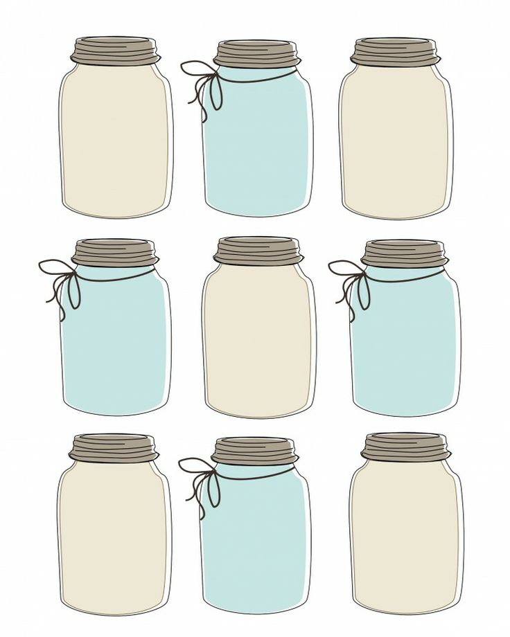 It is an image of Exceptional Printable Mason Jar