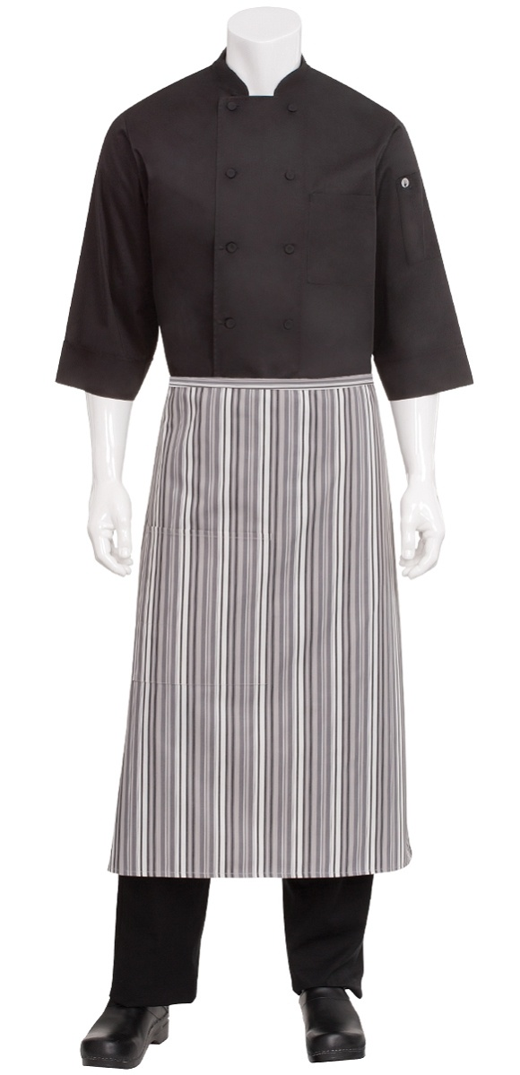 Blue and white strip chef aprons amusing