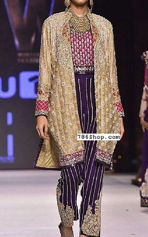 0ff5e22bb3 Golden/Indigo Crinkle Chiffon Suit | Buy Pakistani Fashion Dresses and  Clothing Online in USA, UK