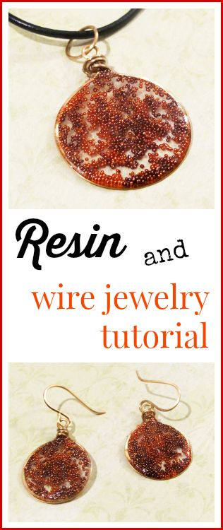 Resin Obsession blog:  How to use wire with resin to make jewelry