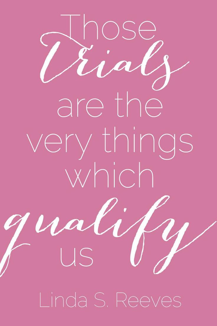 """Those trials are the very things which qualify us."" #SisterReeves #ldsconf"