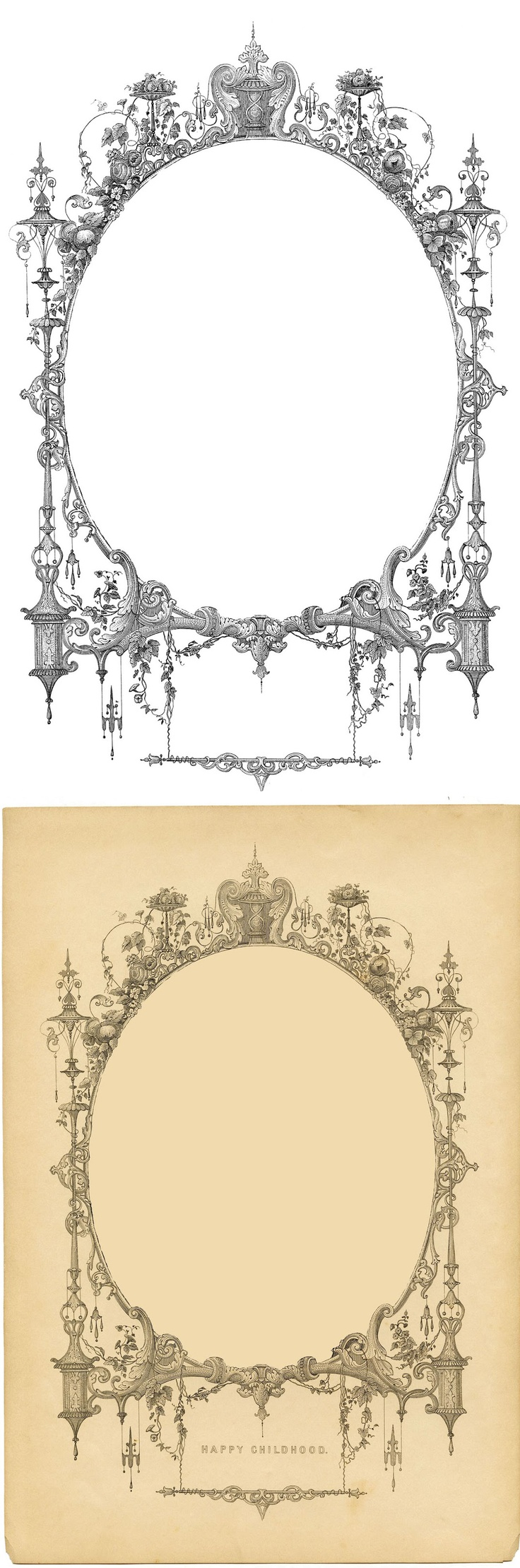 free printable fancy frames