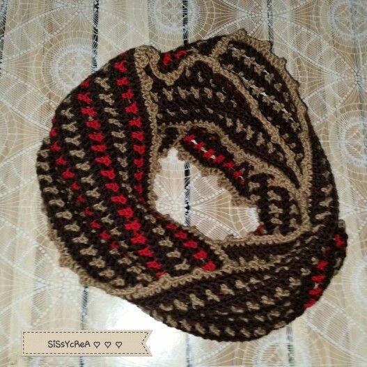 Infinity scarf crochet (25€)