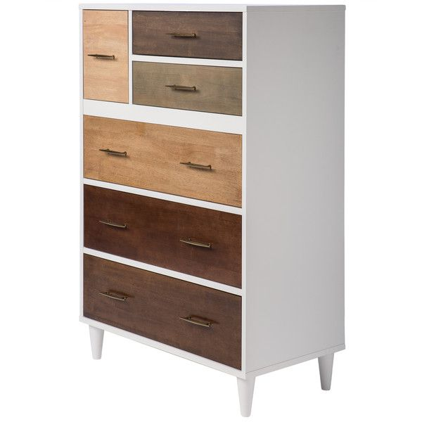 Christian 6-drawer Chest of drawers (670 CAD) ❤ liked on Polyvore featuring home, furniture, storage & shelves, dressers, white 6 drawer dresser, white dresser, white bedroom dresser, storage dresser and 6 drawer dresser