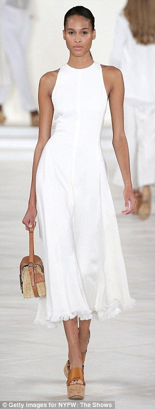 The collection also included all-white looks, inspired by the French Riviera...