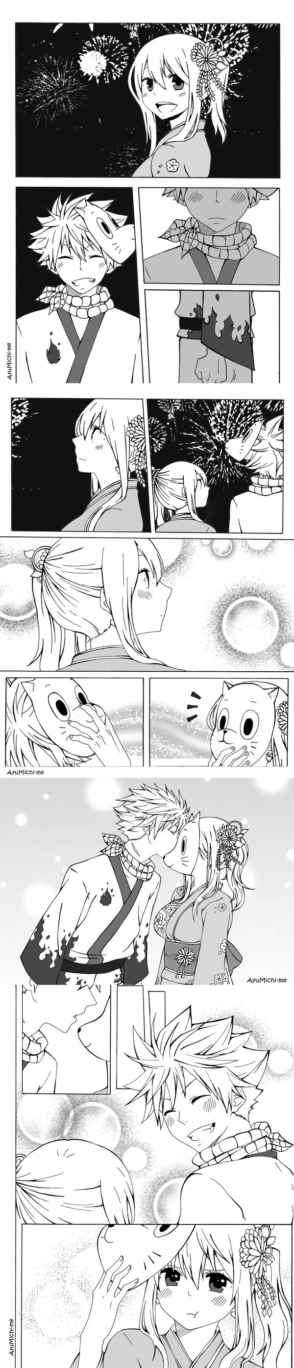 NaLu Fluff Week Prompt: Festival by AyuMichi-me on DeviantArt
