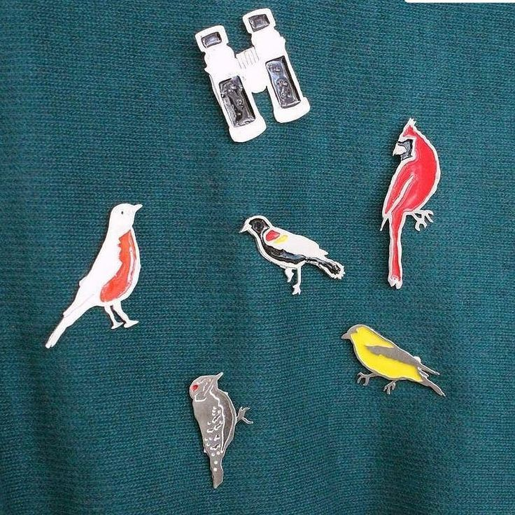 Backyard Birding Pins. Inspired by the view from my kitchen,