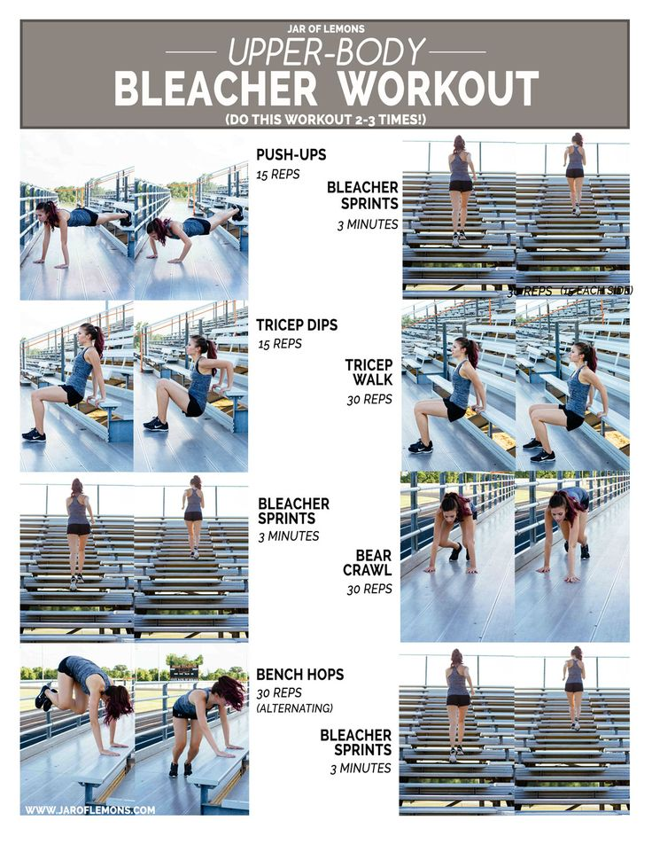 Upper-Body Bleacher Workout!