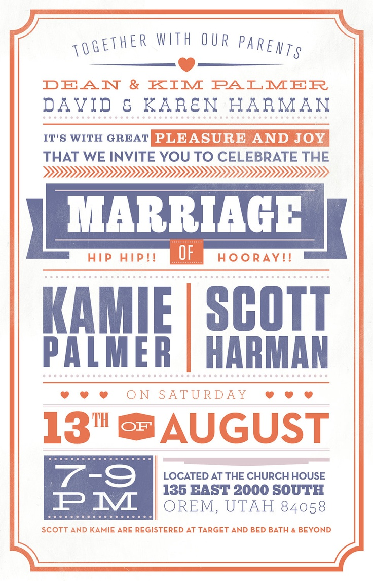 Vintage wedding invitation (design file). $40.00, via Etsy.