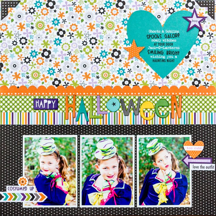 Happy Halloween - Scrapbook.com - Mix and match fun patterns and colors with Bella Blvd's Halloween magic collection.