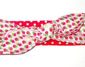 Toddler Strawberry Dolly Bow