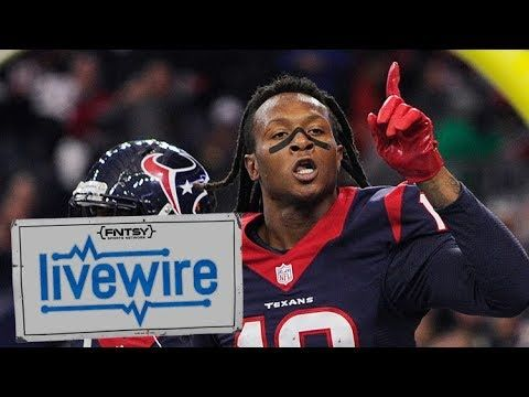 Is DeAndre Hopkins a Bounceback Candidate? Fantasy Football 2017 | FNTSY Live Wire Highlight