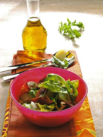 Insalata con bacon e patate novelle