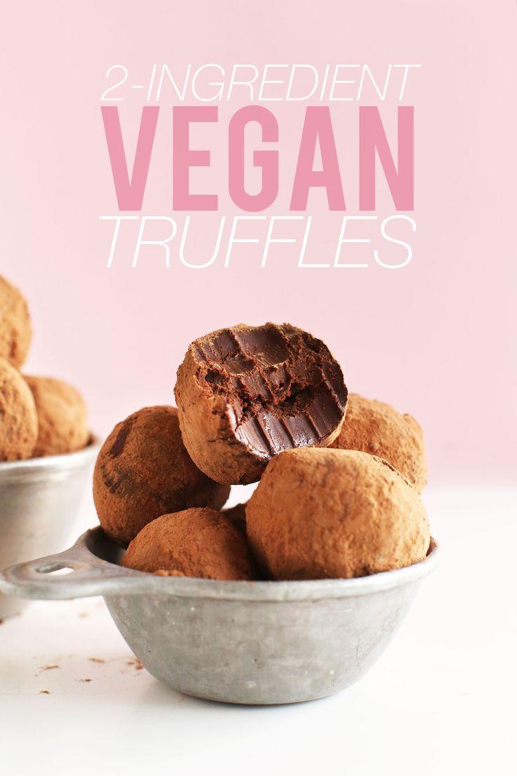 2-Ingredient Chocolate Truffles | Minimalist Baker Recipes