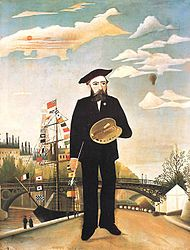 Henri Julien Félix Rousseau (May 21, 1844 – September 2, 1910) was a French Post-Impressionist painter in the Naive or Primitive manner. He was also known as Le Douanier (the customs officer), a humorous description of his occupation as a tax collector. Ridiculed during his life, he came to be recognized as a self-taught genius whose works are of high artistic quality.