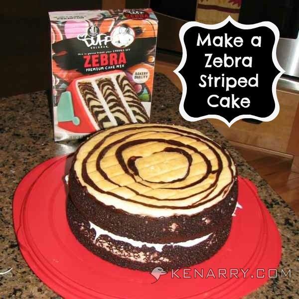 Zebra Striped Bundt Cake