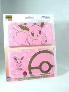 Pokemon-Eevee-Rubber-Coat-Cover-Case-Pink-for-034-new-034-Nintendo-3DS-XL-LL-Japan