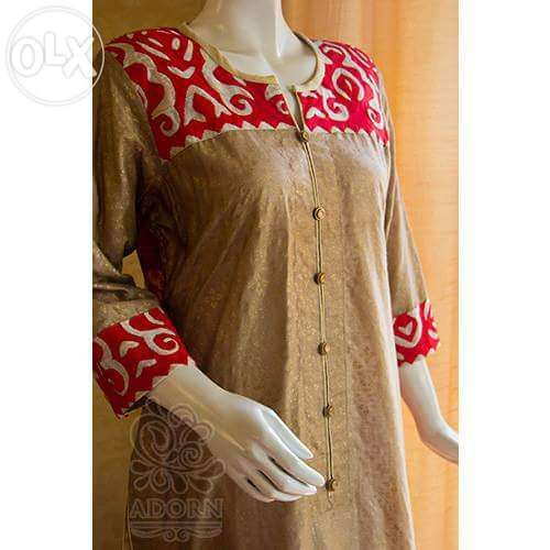 applique designs for kurti