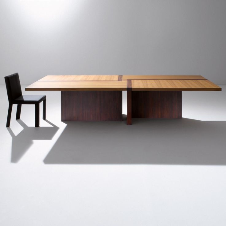 BD 07 R - Rectangular wooden table with inlaid top, available in all sample woods, made to measure. By Bartoli Design | Laurameroni