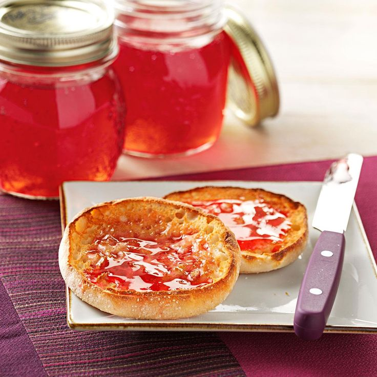 Wild Plum Jelly Recipe -I've had this recipe for ages. Each year when the wild plums are ripe, I'll fill my pail and make this jelly. It's so good served with toast, pancakes or waffles! —Ludell Heuser, Mt. Horeb, Wisconsin