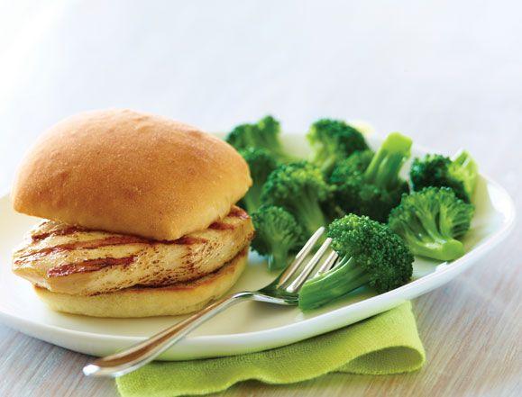 Applebee's... Kids grilled chicken & broccoli