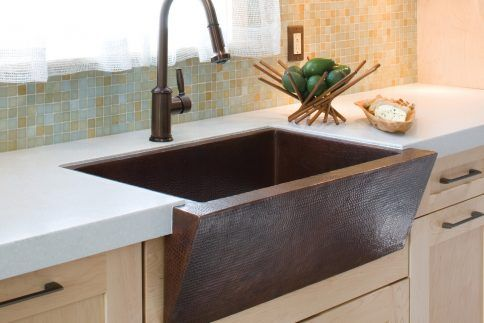 Lovely Rectangle Textured Copper Apron Sink 24 Design Apron Sink