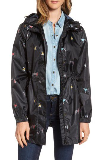 Joules Joules Right as Rain Packable Print Hooded Raincoat available at #Nordstrom