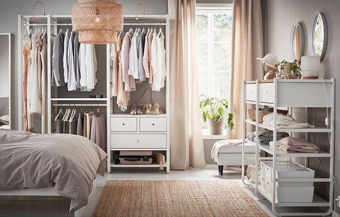 Los armarios abiertos #Ikea para crear un vestidor en tu