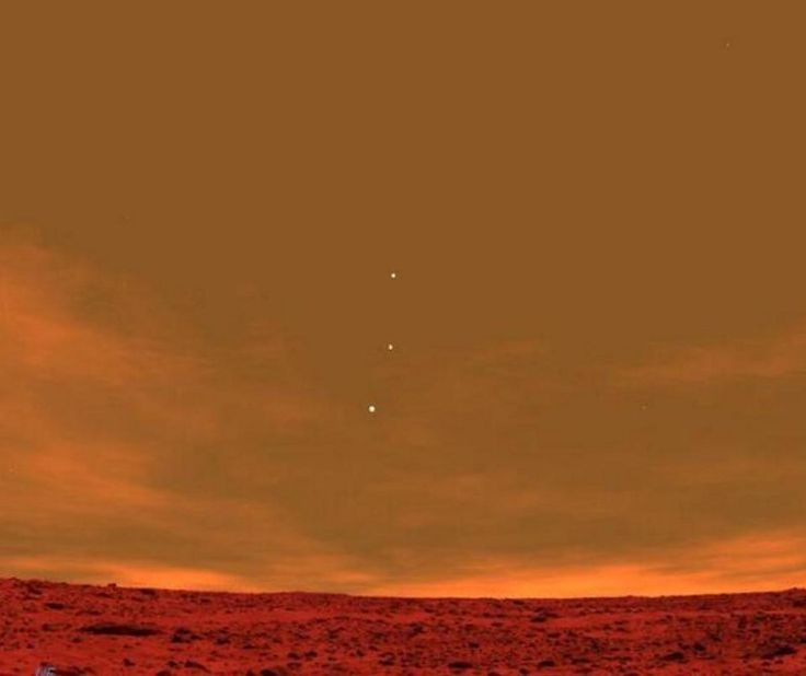 This viral photo of planets as seen from Mars was not taken by the Spirit Rover, as it's often credited to be, but was computer generated by the software Stellarium. The compass heading 'NE' is visible in the lower-left of the image. Image credit: Stellarium. | Sorry, Internet, Some Of Your Favorite Space Pictures Are Fakes