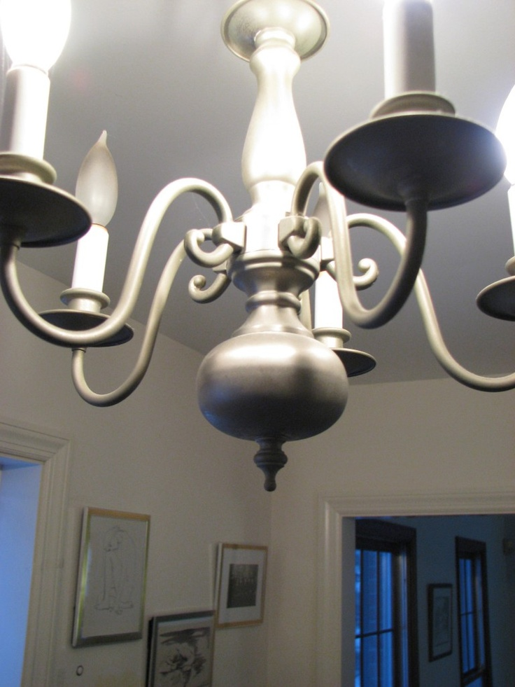 Silver Chandelier Makeover Rub N Buff Dimyself