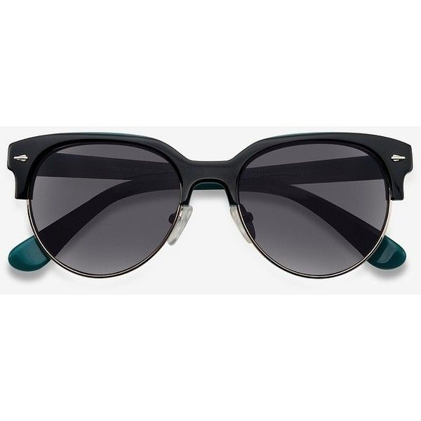 Women's Carven - Black round plastic - 13669 Plastic Rx Sunglasses ($49) ❤ liked on Polyvore featuring accessories, eyewear, sunglasses, wayfarer sunglasses, wayfarer style sunglasses, round glasses, two-tone sunglasses and rounded sunglasses