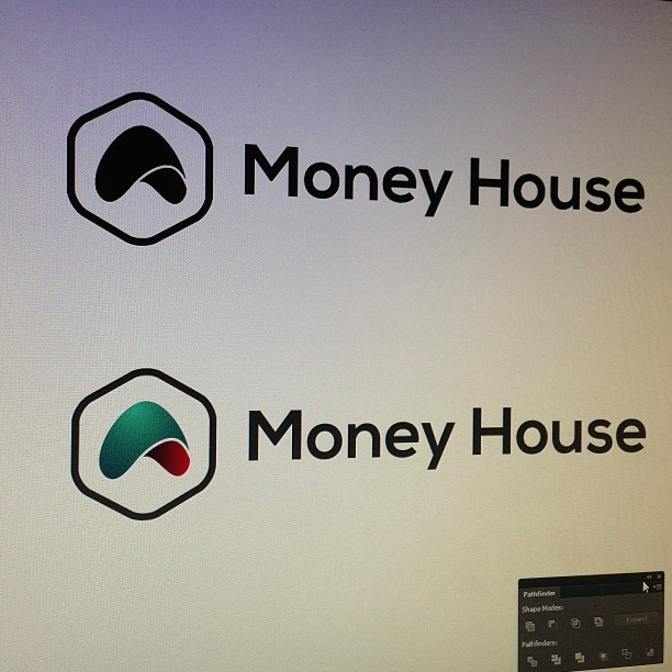 One of logo concepts for finance company