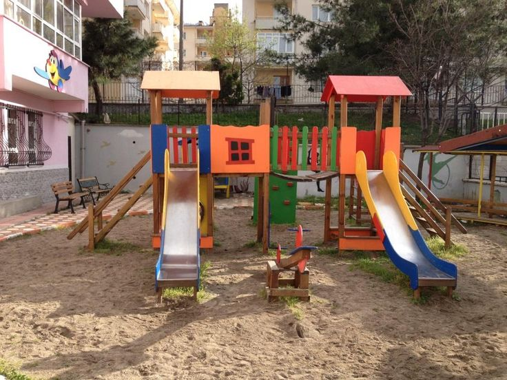 İki Kaydıraklı Oyun Parkı,Ay-Go, Ahşap Oyun Parkları,Ay Geliştirici Oyuncaklar - Bursa