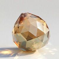 10pcs/lot, золотой персик, 30мм кристалла граненый мяч, хрустальная люстра мяч части для свадьбы образный fengshui продукты, рождество украшения