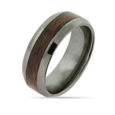 wood grain wedding band