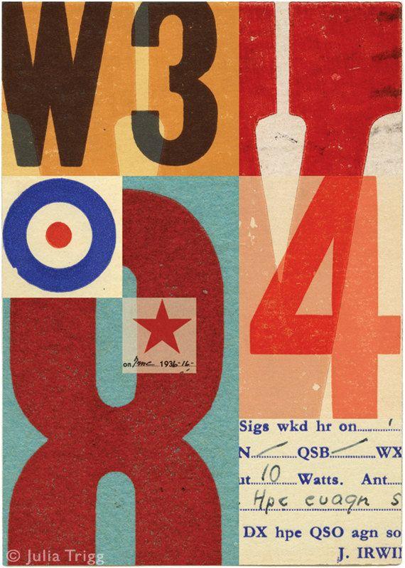 : Poster Design, Design Type Lettering, Design Numbers, Graphic Design Typography, Julia Trigg, Collage, Design Type Art Oh, Juliatrigg